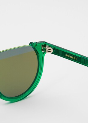 Paul Smith Flash Green 'Brixham' Sunglasses