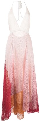 Missoni V-neck ombre panel dress