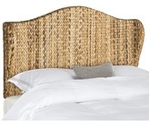 Beachcrest Home Willow Wingback Headboard Size: Full, Upholstery: Natural