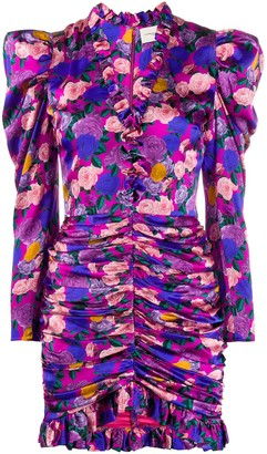 Giuseppe di Morabito Ruched Rose-Print Dress
