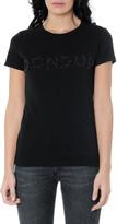 Dondup Maxi Logo Black Cotton T-shirt