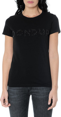 Dondup Maxi Logo Black Cotton T-shirt