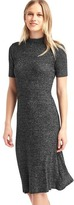 Gap Marled short sleeve mockneck dress