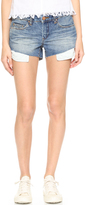 Blank High Low Cutoff Shorts