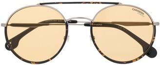 Carrera Tortoiseshell-Effect Aviator Sunglasses