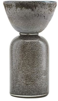 House Doctor - Beige Funnel Candle Stand - Glass - Grey