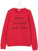 Little Marc Jacobs logo print sweatshirt