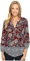 Lucky Brand Burgundy Floral Top