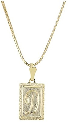 Vanessa Mooney The London Initial Necklace (Gold/D) Necklace
