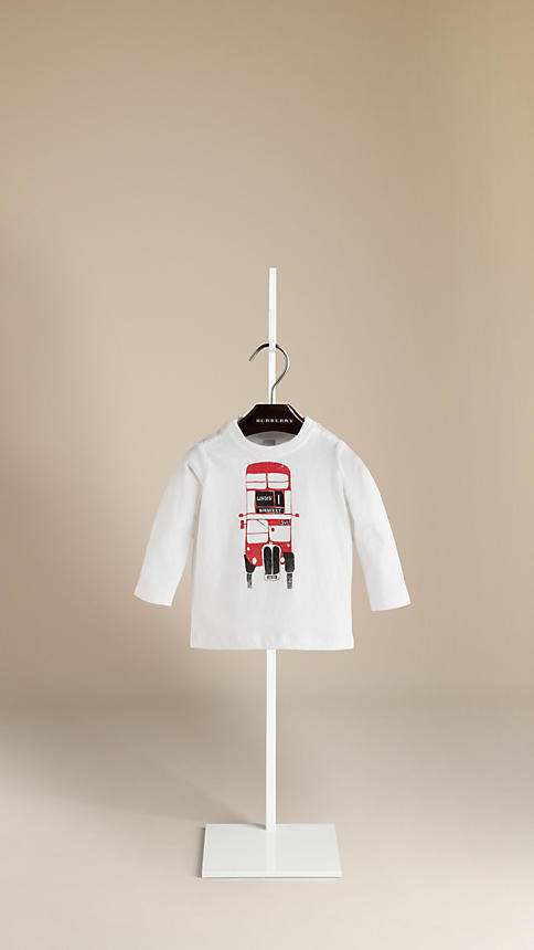 Burberry Bus Graphic Long-Sleeve T-Shirt