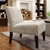 HomeSullivan Havens Grey Link Key Slipper Fabric Accent Chair