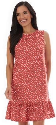 Apt. 9 Women's Sleeveless Flounce-Hem Swing Dress