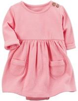 Carter's Baby Girl Babysoft Polka-Dot Bodysuit Dress