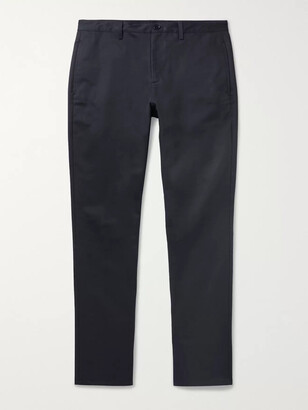 A.P.C. Navy Classic Cotton-Gabardine Chinos - Men - Blue