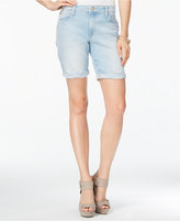 Joe's Jeans Finn Cuffed Marjorie Wash Denim Bermuda Shorts