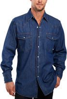 JCPenney Ely Cattleman Denim Washed Snap Shirt