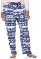 Croft & Barrow Plus Size Pajamas: Microfleece Pajama Pants