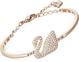 Swarovski Rose Gold-Tone Crystal Swan Bangle Bracelet