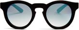 Italia Independent Velvet-coated mirrored sunglasses