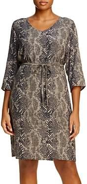 Junarose Plus Snakeskin-Print V-Neck Dress