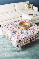 Anthropologie Badia-Printed Edlyn Cocktail Ottoman