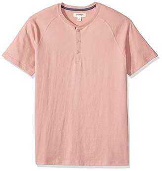 Goodthreads Short-sleeve Sueded Jersey Henley Shirt,(EU 5XL-6XL)