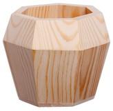 "Threshold Hand Made Modern Small Wood Planter, Septagon - 5"" x 5"""