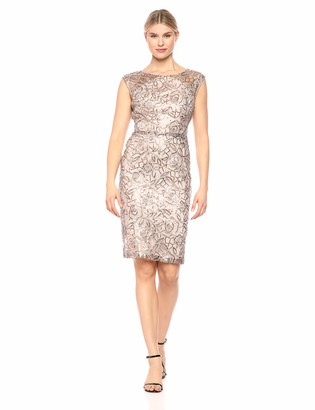 Ignite Women's Sequined Lace Short Dress