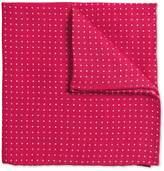 Pink Linen Spot Classic Pocket Square by Charles Tyrwhitt