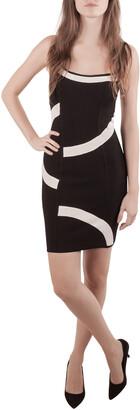 Herve Leger Monochrome Patterned Knit Sleeveless Bandage Dress S