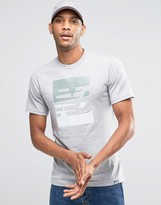 New Balance Ss Logo T-shirt In Grey Mt63514_ag