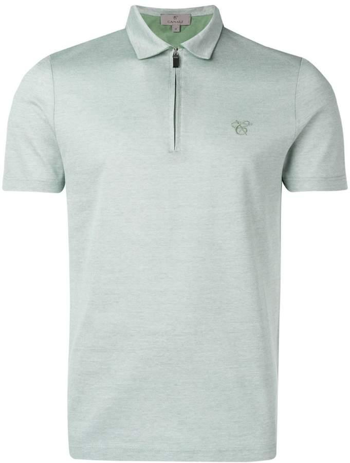 Canali zip polo shirt