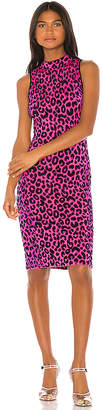 Milly Cheetah Fitted Dress
