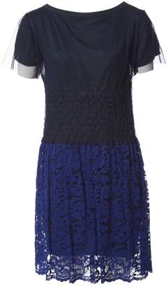 Sacai Luck Navy Wool Dresses