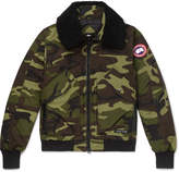 Canada Goose - Bromley Shearling-Trimmed Camouflage-Print Shell Down Bomber Jacket
