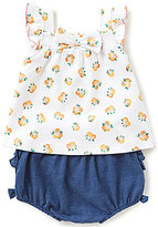 Kate Spade Baby Girls 3-9 Months Orangerie Flutter-Sleeve Top & Ruffle Shorts Set