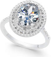 Charter Club Silver-Tone Pavé & Oval Cubic Zirconia Ring, Created for Macy's