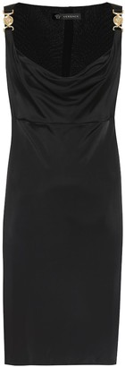 Versace Embellished jersey minidress