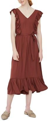 Vero Moda Odette Ruffle Midi Dress