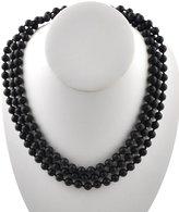 Barse Genuine Matte Onyx Wrap Necklace