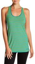 Brooks Scoop Neck Racerback Striped Tank