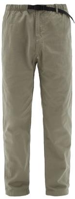 Gramicci Drawstring-waist Cotton Trousers - Mens - Grey