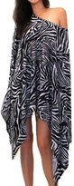 TINYHI Charm Women Loose Bat-wing Sleeve Cloak Zebra Stripe OS