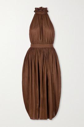 Marysia Swim Sea Urchin Textured-cotton Midi Dress - Brown