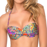 Luli Fama Gipsy Soul Underwire Push-Up Bandeau in Multicolor