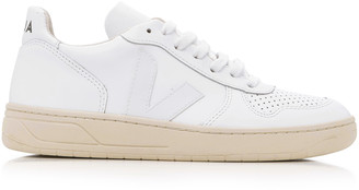 Veja V10 White Leather Sneakers