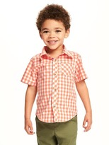 Old Navy Poplin Pocket Shirt for Toddler Boys