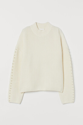 H&M Sweater with Pearlescent Beads