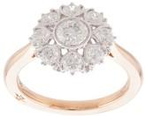 Marchesa 18kt rose gold floral diamond ring
