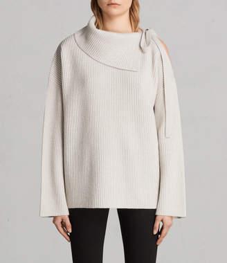 AllSaints Sura Tie Neck Sweater